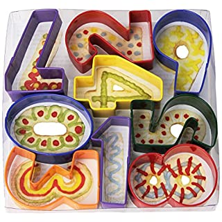 """R&M International Numbers 3"""" Cookie Cutters, Assorted Colors, 9-Piece Set"""