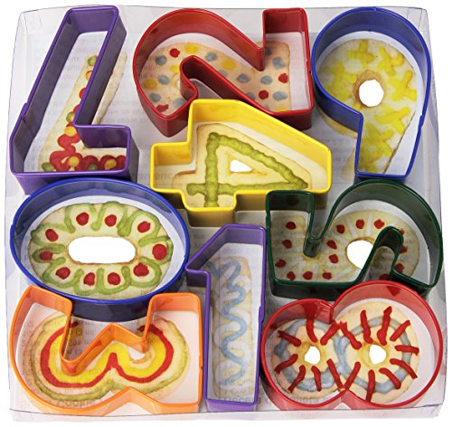 "R&M International Numbers 3"" Cookie Cutters, Assorted Colors, 9-Piece Set"