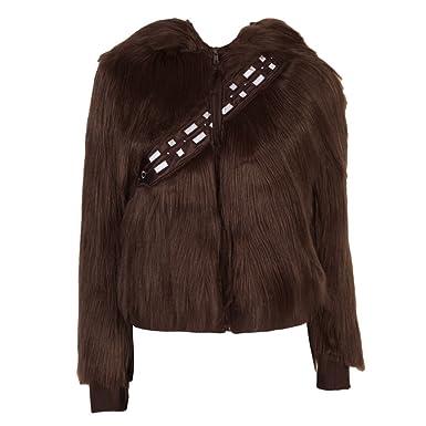 Amazoncom Star Wars Chewbacca Womens Costume Hoodie Clothing - Hoodie will turn you into chewbacca from star wars