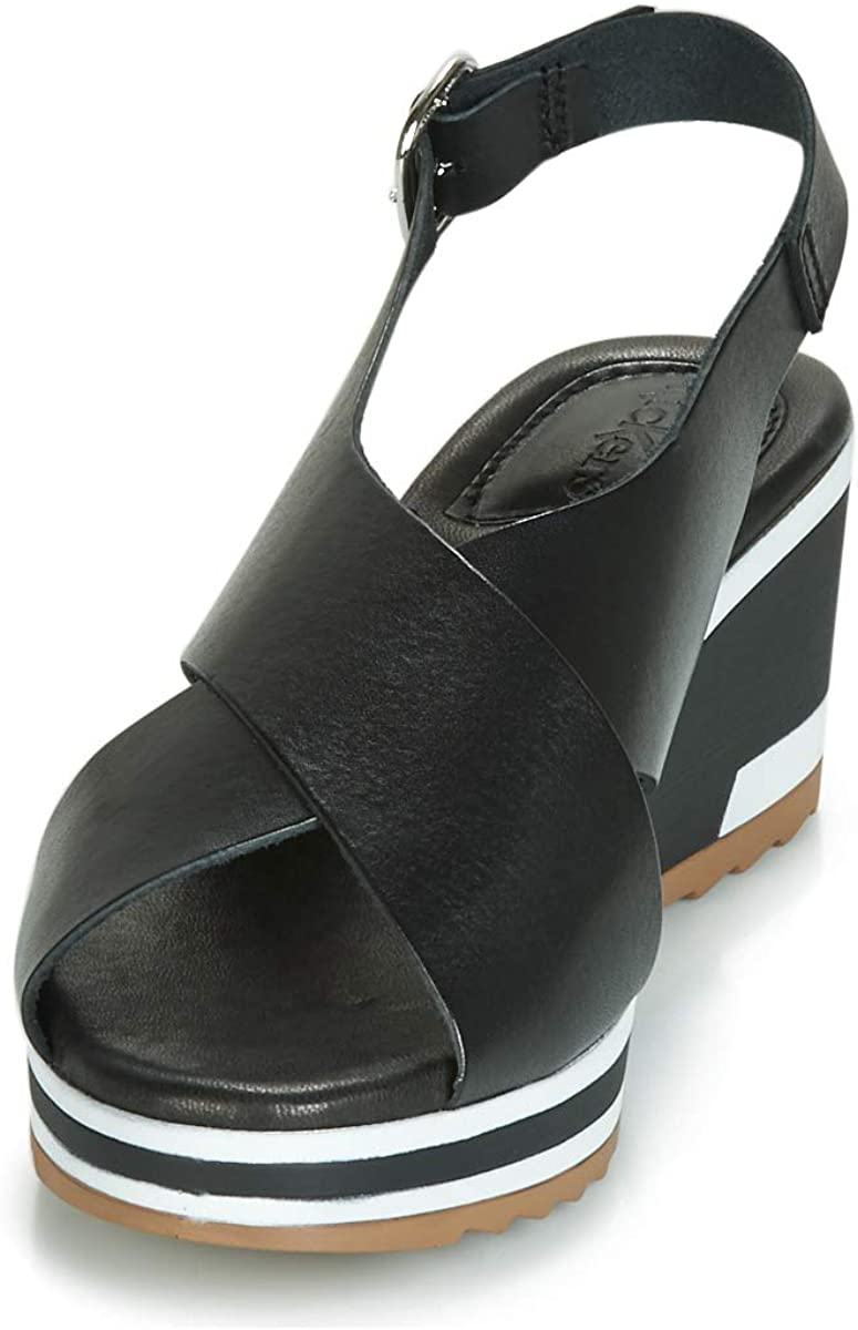 Wing, Sandale Femme, Noir