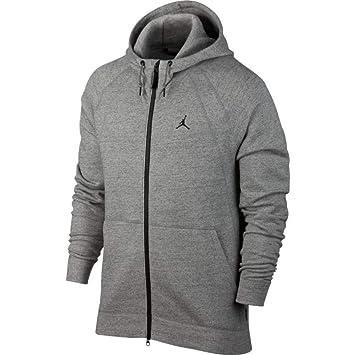 8f1586386df Nike Men's Jordan Wings Fleece Hoodie, Grau (Dark Grey Heather/Black)
