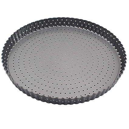 1 piezas antiadherente bakeware pizza bandeja de acero al ...