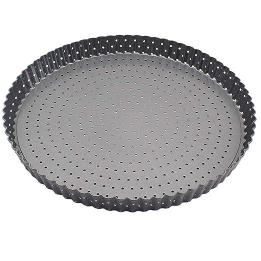 1 piezas antiadherente bakeware pizza bandeja de acero al horno ...