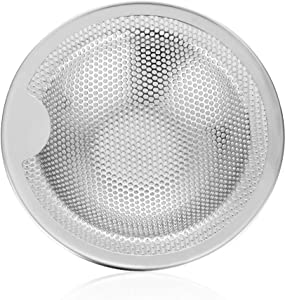 Kitchen Sink Strainer Basket Catcher 4.0 inch Diameter, Wide Rim Perfect for Most Sink Drains, Anti-Clogging Micro Perforation Holes, Rust Free, Dishwasher Safe