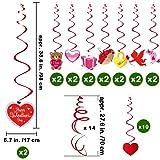 Supla 40 Pcs Valentine's Day Hanging Swirl