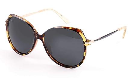 3213d32ca45c8 EFE Oversized Polarized Sunglasses for Women Composite Frame   Case  (Butterfly)