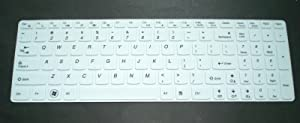"BingoBuy White Silicone Keyboard Protector Skin Cover for IBM Lenovo IdeaPad Z50, Z500, Z500A, Z510, Z510p, Z580, Z585, Z560, Z565, Z570, Z70, Z70-80, Z710, S510, S510p, U510, U530, Y50, Y70, Y500, Y510p, Y580, Y570, Y570D, V570, P500, P580, N580, N585, B50, B570, B575, G50, G50-30, G50-70, G50-80, G500, G500s, G505, G505s, G510, G570, G575, G770, G580, G585, G70, G710, G700, G780, Edge 15, Flex 15, Flex2 Flex 2 (15 inch) (if your ""enter"" key looks like ""7"", our skin can't fit) with BingoBuy Card Case for Credit, Bank, ID Card"