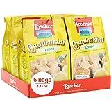 Loacker Quadratini Premium Lemon Wafer Cookies, 125g/4.41oz., Pack of 6