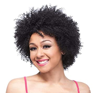 FFWig Afro Corto Rizado Pixie Cut Pelucas para Negro Mujer Rubia Completo Peluca Natural Party Cosplay