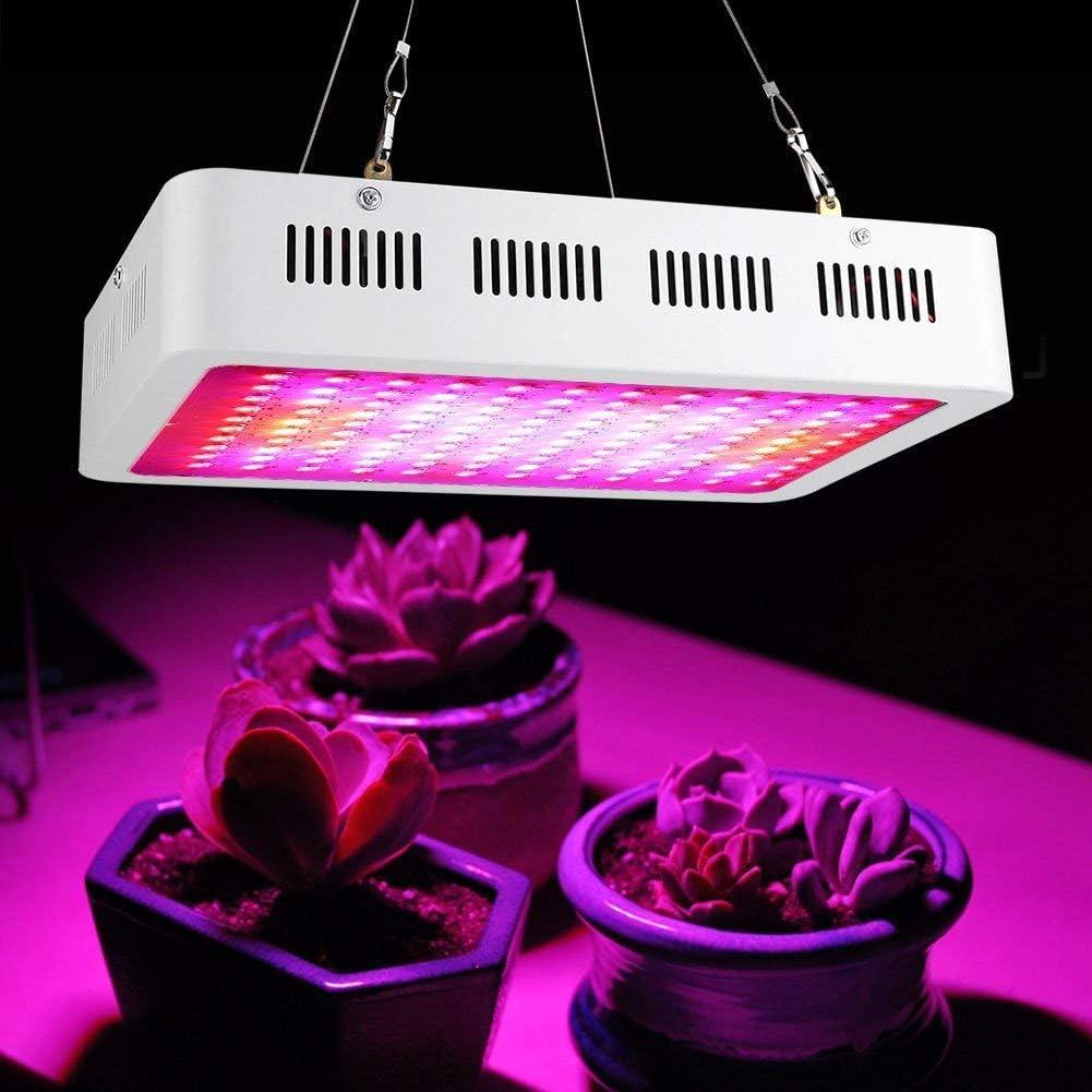 AC85-265V Espectro Completo 1200W Luz de Cultivo de Plantas Vegs de Hidroponía Lámpara de Panel de Flores