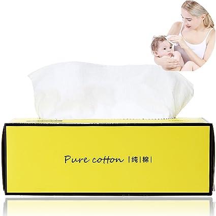 Toalla desechable de algodón puro y suave, toallitas de limpieza facial para maquillaje, 100