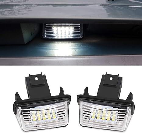Citroen C4 CACTUS Ampoule LED plaque immatriculation Blanc Xenon Type Canbus