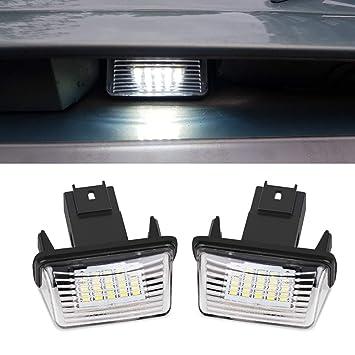 YUGUIYUN Luces de matrícula LED de iluminacion 18 LED SMD ...