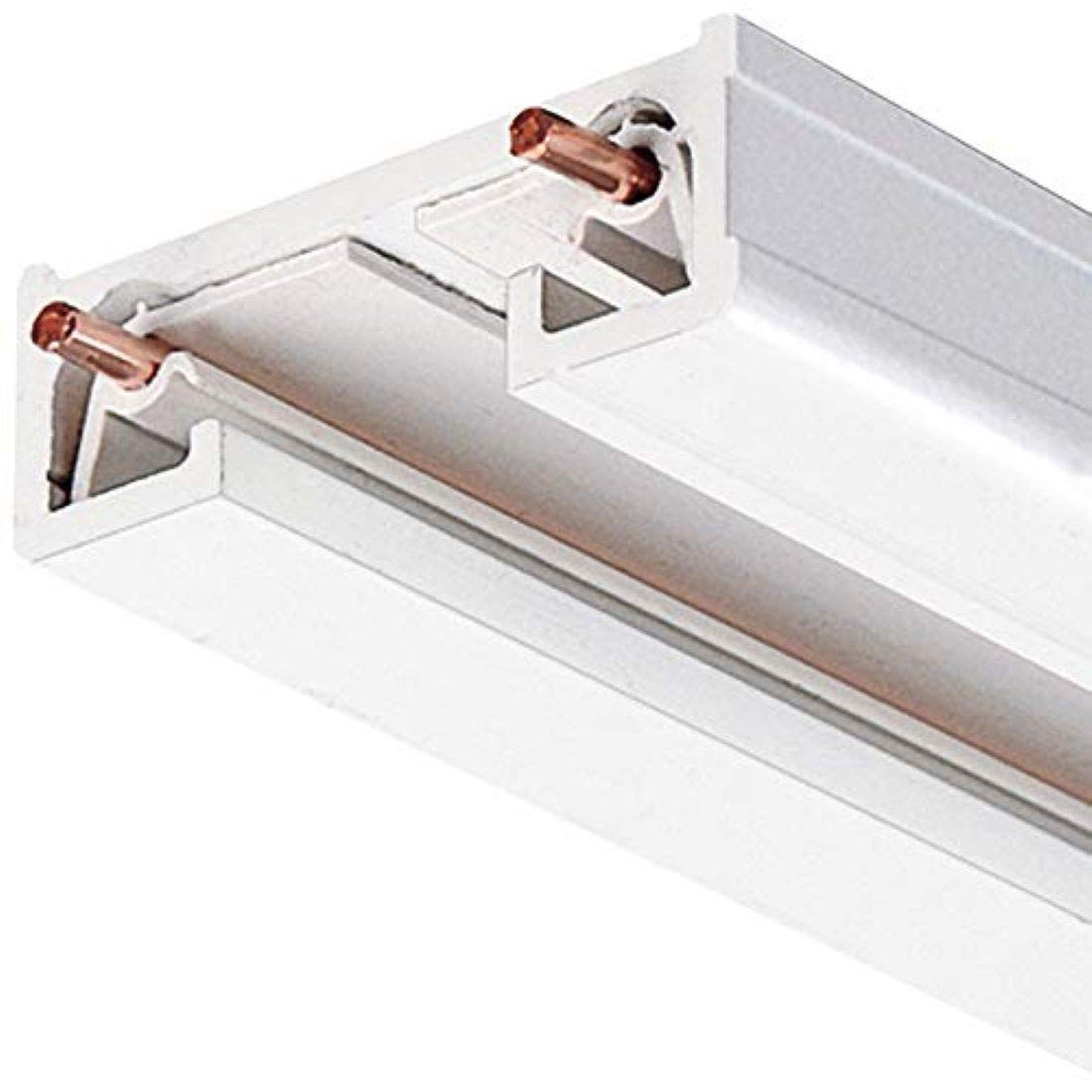 Juno Lighting 8FT WH R Series Trac-Lite Track Section, 8', White