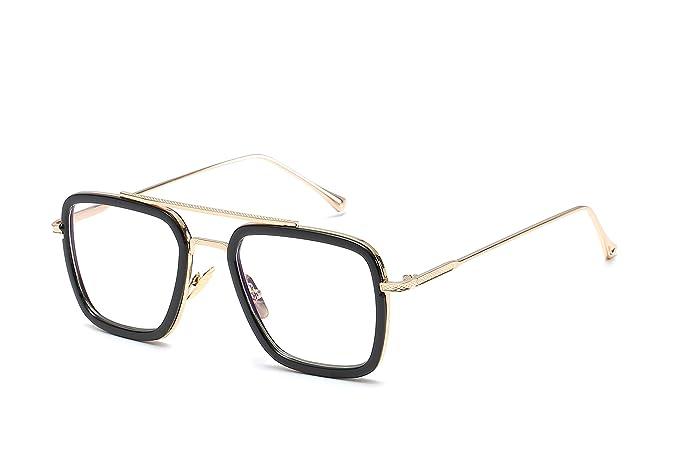 Amazon.com: Gafas de sol retro de aviador cuadradas para ...