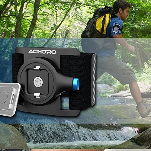 Smartphone Armband for Workout, Running, Cycling Gym Jogging, Hiking, and Sport. Universal Premium Quality Armband, Wristband for Smartphone, Samsung, iPhone. Outdoor Activities Mobile Phone Armband by Achoro