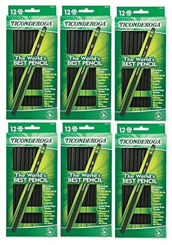 - Dixon Ticonderoga Wood-Cased #2 Pencils, Case of 72, Black