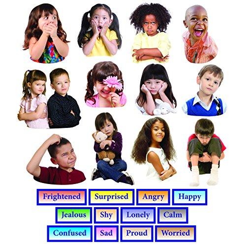 (Little Folk Visuals Emotions Precut Flannel/Felt Board Figures, 24 Pieces)