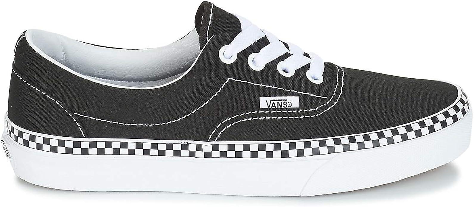 Vans Era (Check Foxing) Schuhe Damen Schwarz: