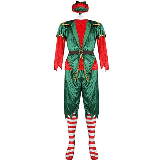 Bozaap - Disfraz de Elfo de Navidad para Hombre y Mujer, Conjunto ...