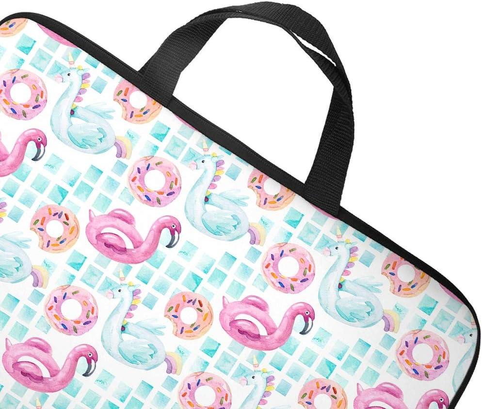 Funny Laptop Sleeve Flamingo Unicorn Prints Laptop Computer Storage Bag Waterproof Neoprene Laptop Computer Handbag for Wife Husband White 13inch
