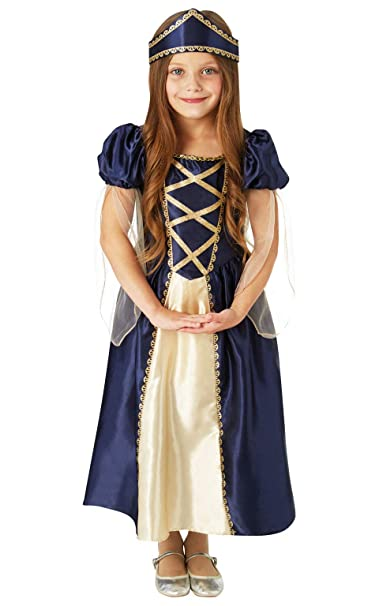 GIRLS RENAISSANCE QUEEN TUDOR MEDIEVAL FANCY DRESS COSTUME