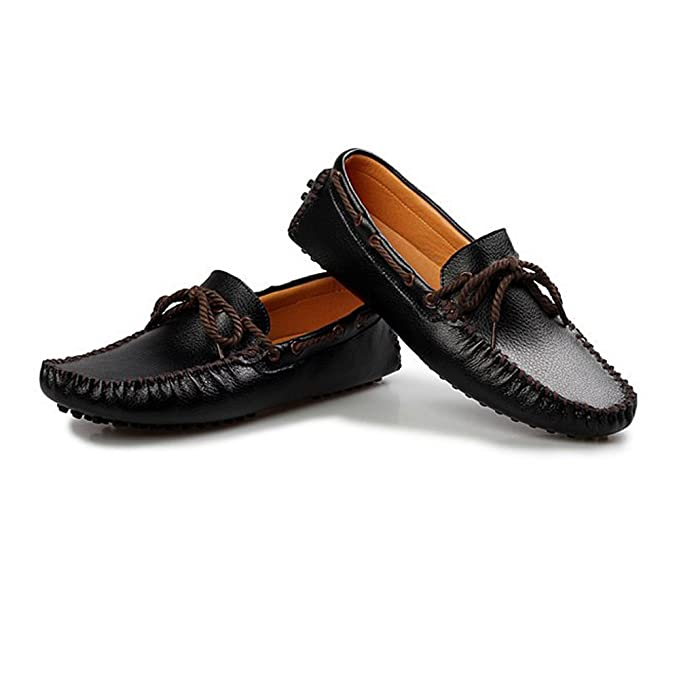 Amazon.com: MUMUWU Mens Driving Loafers Solid Color Lace Up Penny Boat Shoes Studs Sole Leisure Moccasins Dress Shoes: Clothing