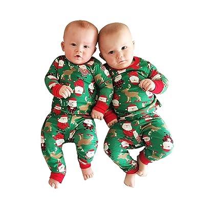 1b032836e458f Kolylong 2018 Noël Barboteuse Vert Combinaison Manches Longues Déguisement  Costume père noël imprimée Mignonne pour Nouveau