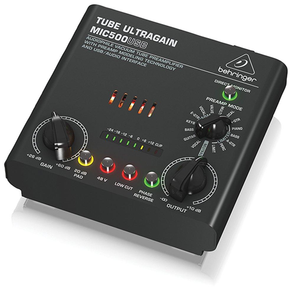 Behringer mic500usb Tube Ultragain Vorverstärker (9° MUSIC Group