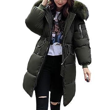 91e3eb871e2802 kigins Damen Daunenjacke Lang Winterjacke Warm Daunenmantel Frauen  Übergangsjacke Parka Outwear Winter Jacke Mantel (EU