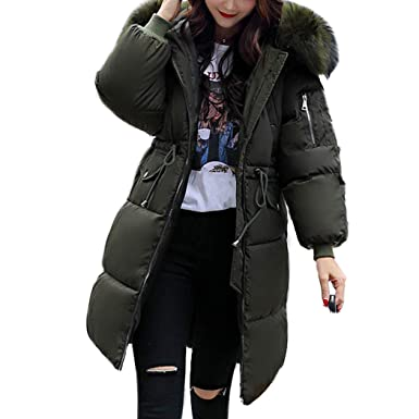 0f59f75bbe608 Pinsparkle Womens Plus Size Faux Fur Hooded Quilted Padded Winter Coat  Puffa Parka Jacket Army Green