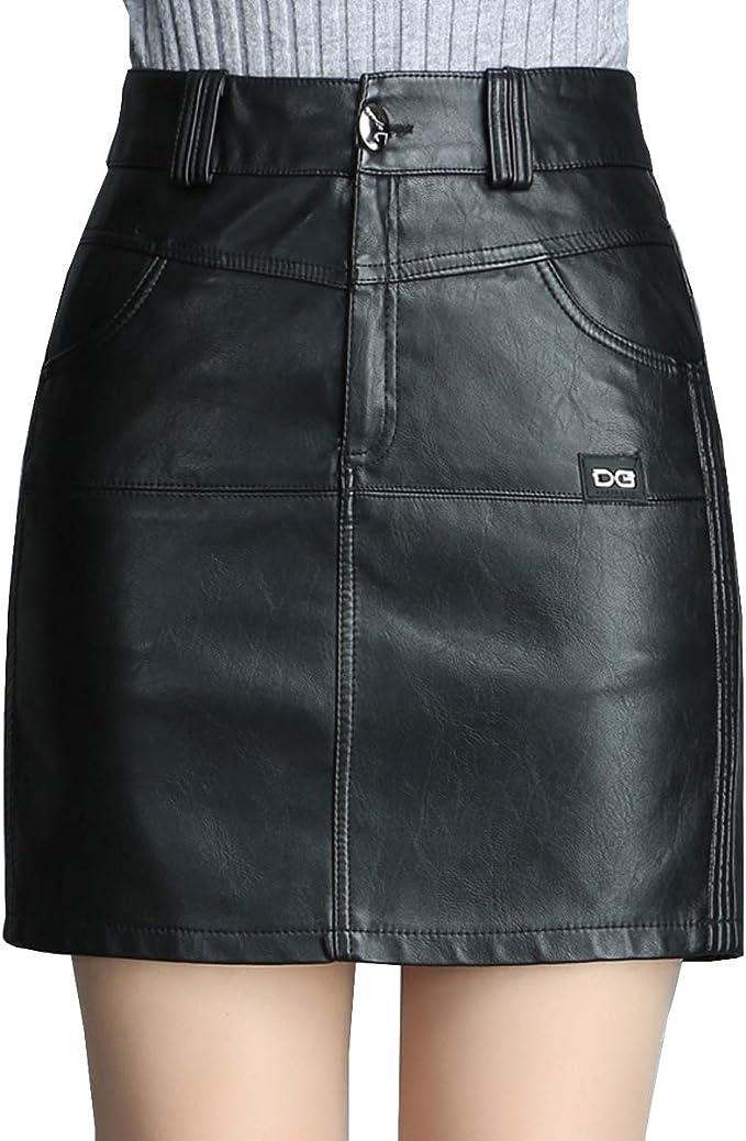 E-Girl CD1908 - Falda Mini lápiz para Mujer Negro 38 EU XL ...