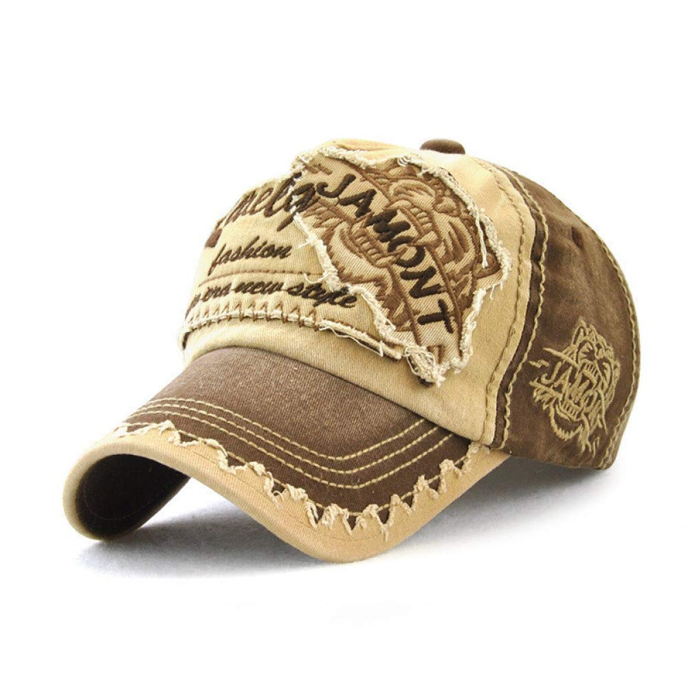 Outdoor Sports hat Baseball Cap Fashion Baseball Cap Women Hat Men Bone Hip Hop Pattern Cap Dad Hat GrljdHat (color   Coffee, Size   Adjustable)