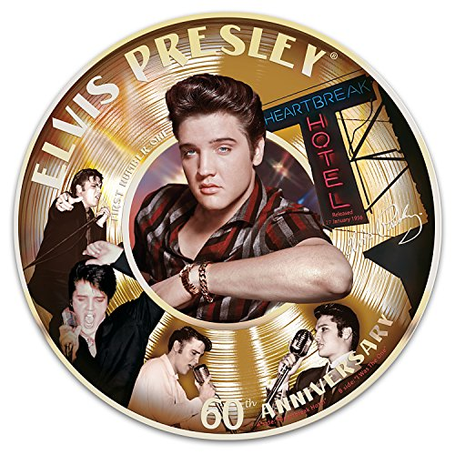 Elvis Presley 60th First Number 1 Record Porcelain Collector Plate by The Bradford - Collectors Record Elvis