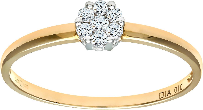 Naava Anillo para Mujer de Oro con Diamante: Amazon.es: Joyería