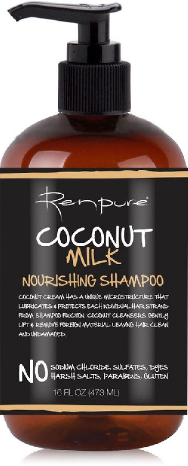 Renpure Coconut Milk Nourishing Shampoo, 16 oz (Pack of 3) by RENPURE