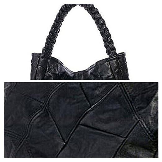 1ade3bf68485a DokinReich Fashion Mode Damen Handtasche Leder Damentasche Schultertasche  Handbag Damentasche Schwarz Tote Bag Armband Handtaschen  Amazon.de   Bekleidung