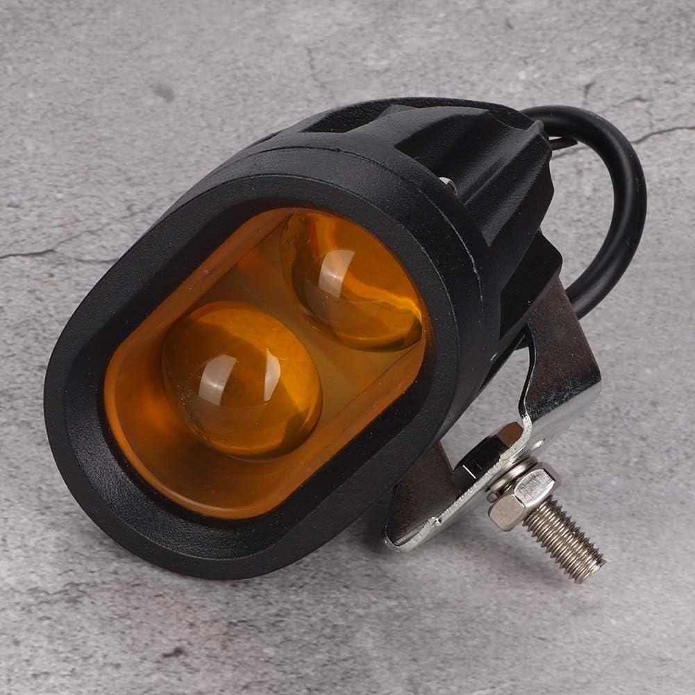 Cuque 12V 24V 20W LED Forklift Safety Light Warning Light Spot Light IP67 Waterproof Yellow Warehouse Safe Warning Light 4D Lens 2 LED Work Lamp for Motorcycle Offroad Forklift ATVs Trucks Boats