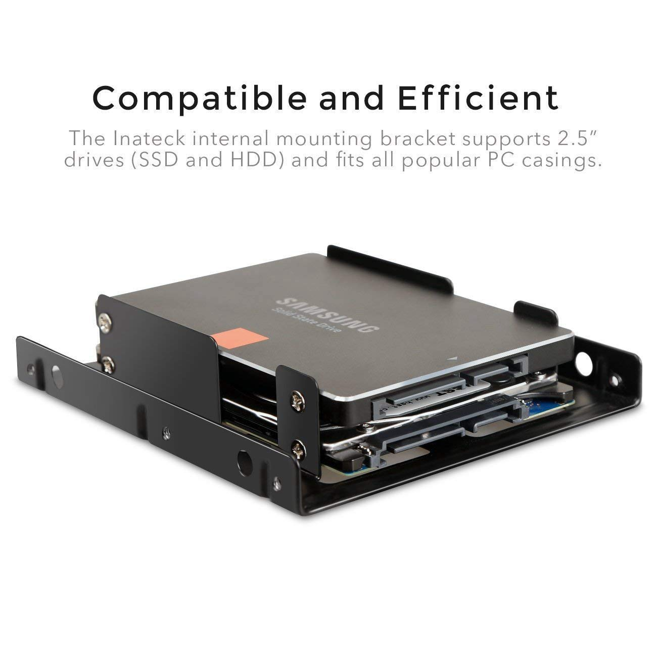 Cables de Datos Sata y Cables de Potencia Incluidos WOVELOT 2X 2.5 Pulgadas Ssd a 3.5 Pulgadas Soporte Kit de Montaje de Unidad de Disco Duro Interno