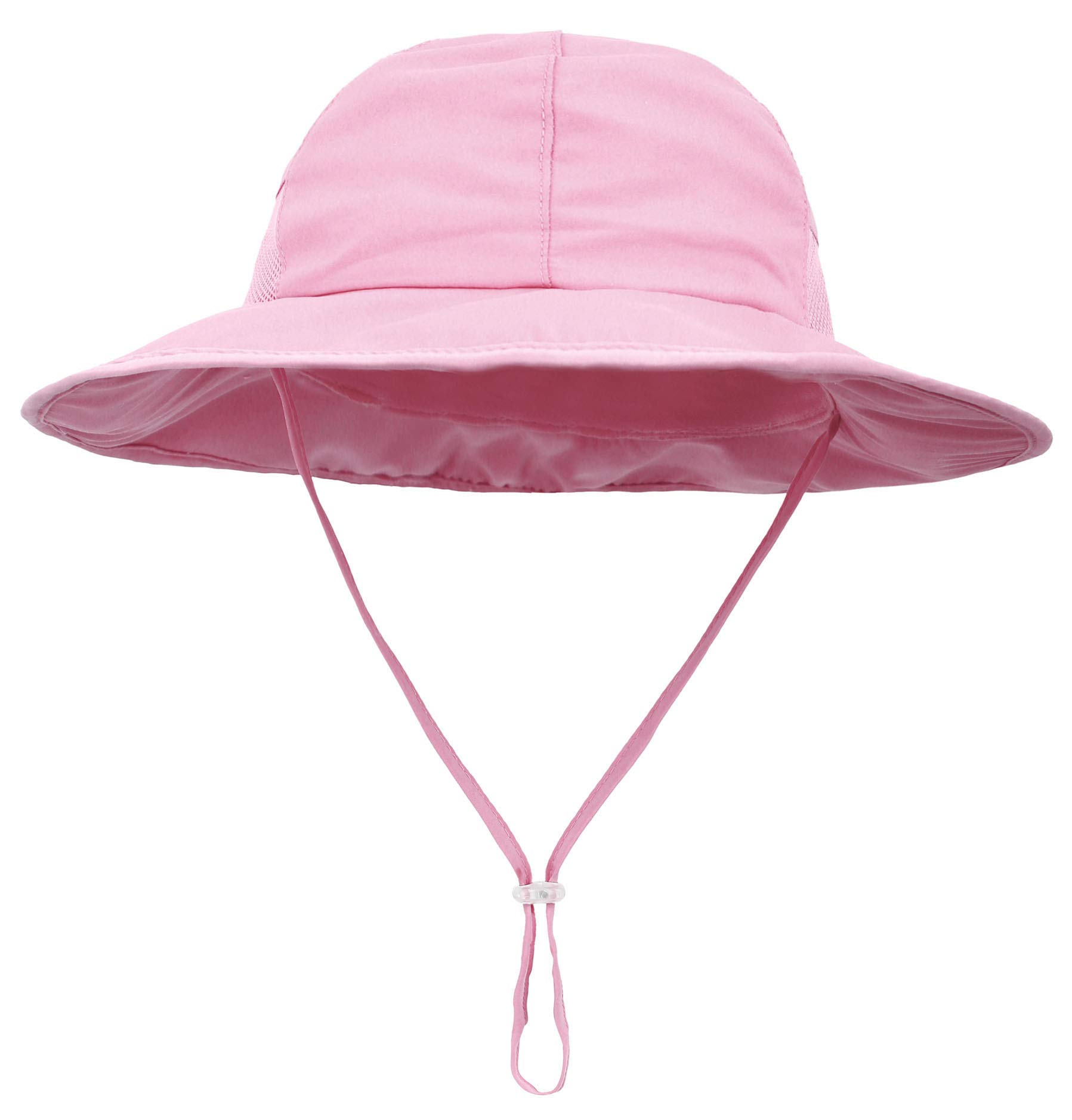 SimpliKids Girls Kids Sun Hat with UV Protection Wide Brim Bucket Hat Pink by SimpliKids