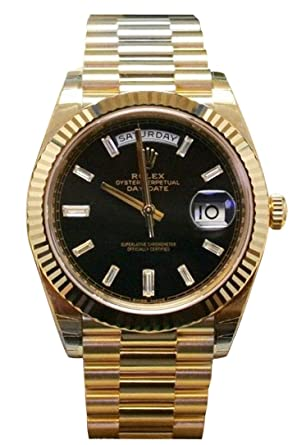 Amazon Com Rolex 18k Yellow Gold President Day Date 40m