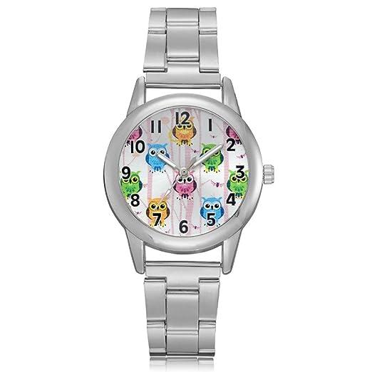 Relojes de Mujer Plateado 2018 Elegantes Pulsera de Diamantes de Imitación por ESAILQ: Amazon.es: Relojes