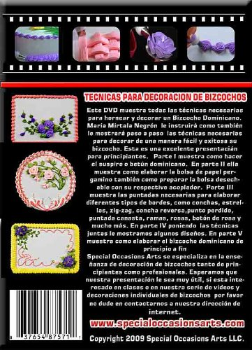 Amazon.com: Bizcocho Dominicano Y Tecnicas Para Su Decoracion DVD: Home & Kitchen