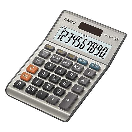 Casio MS-100BM - Calculadora básica, 30.7 x 103 x 145 mm, plata ...