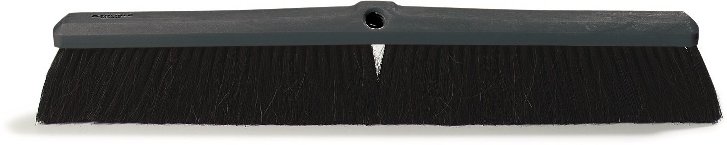 Carlisle 4056100 Floor Sweep, Plastic Foam Block, 3''-Long Black Horsehair/Polypropylene Bristles, 18'' L x 2-5/8'' W (Case of 12)
