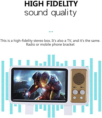 Lupa de pantalla 3D estilo retro con altavoz inalámbrico ...