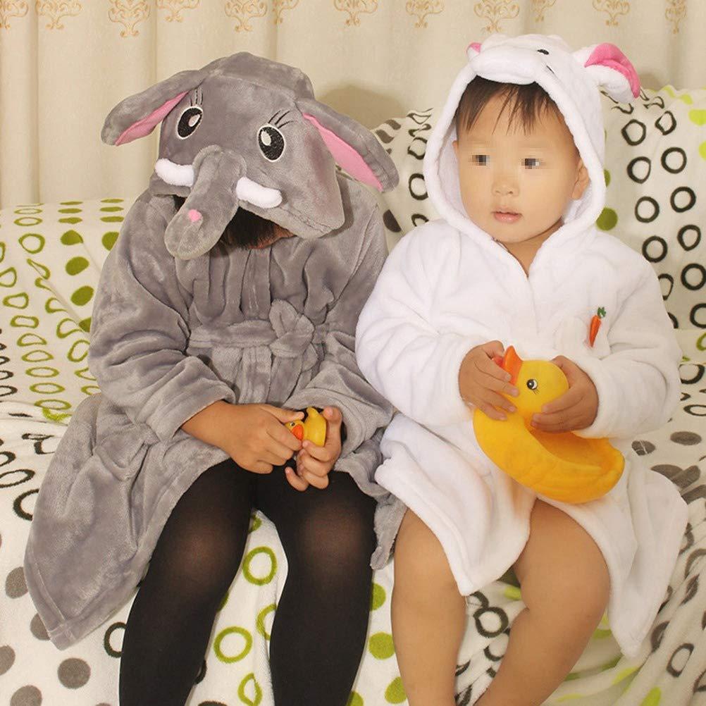YeahiBaby Albornoz de Niños con Capucha de Dibujos Elefantes Bata de Baño para Disfraces - 100cm: Amazon.es: Hogar
