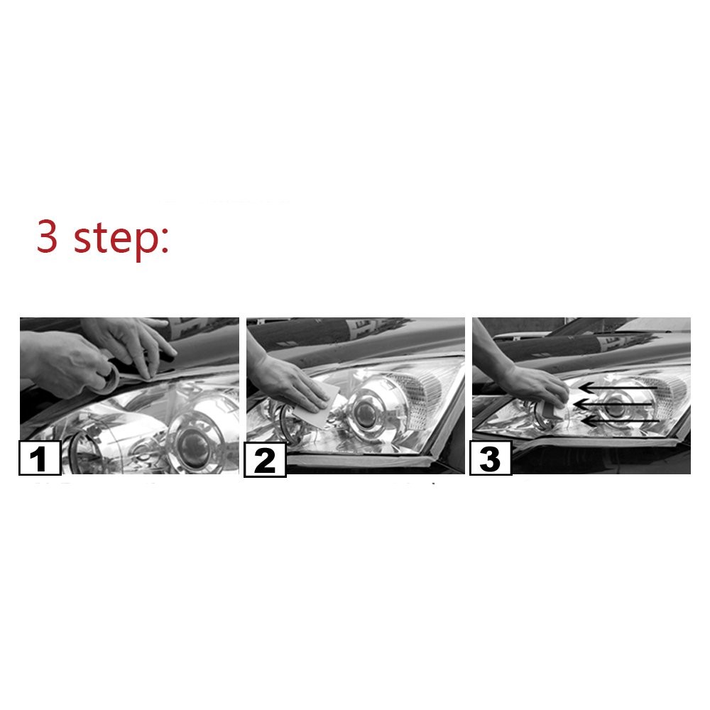 Guteauto Car Headlamp Polishing Anti-scratch DIY For Car Head Lamp Lense Increase Visibility Headlight Restorstion Kit Restores Clarity by Guteauto (Image #5)