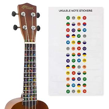 Ukelele Note, hoja de calcomanías para principiantes: Amazon.es: Instrumentos musicales