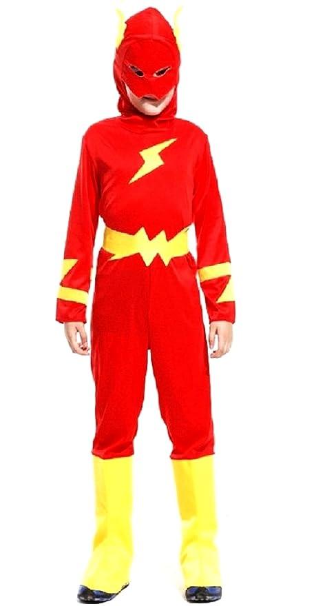 Traje de Carnaval de Halloween flash súper héroe XL: Amazon ...
